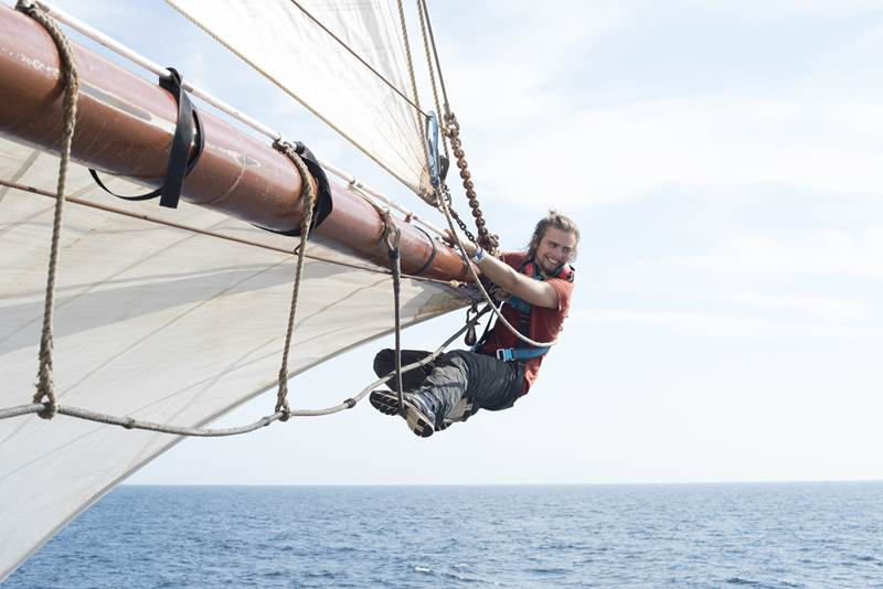 Atlantic Ocean Voyage on Tall Ship Sailing Morgenster with Classic Sailing