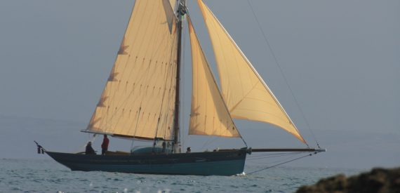 Wooden boats - Pilot cutter in Cornwall